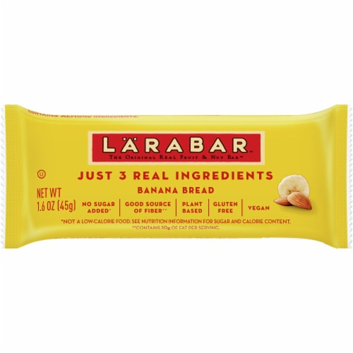 Larabar Gluten-Free Banana Bread Fruit & Nut Bar Perspective: front