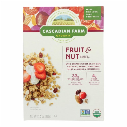 Cascadian Farm Organic Granola - Fruit and Nut - Case of 6 - 13.5 oz. Perspective: front