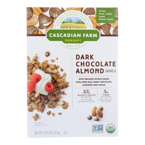 Cascadian Farm Granola - Organic - Dark Chocolate Almond - 13.25 oz - case of 6 Perspective: front