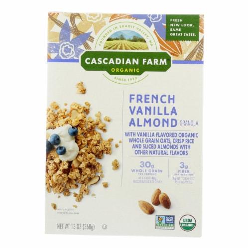 Cascadian Farm Organic Granola - French Vanilla Almond - Case of 6 - 13 oz. Perspective: front
