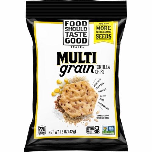 Food Should Taste Good Multigrain Tortilla Chips Perspective: front