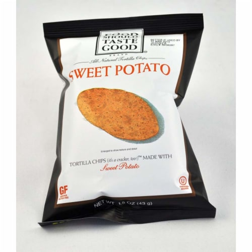 Food Should Taste Good Sweet Potato Tortilla Chips, 1.5 Ounce -- 24 per case. Perspective: front