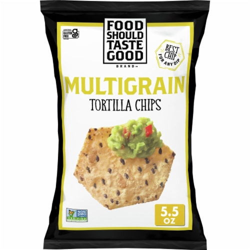 Food Should Taste Good Multigrain Tortilla Chips Perspective: front