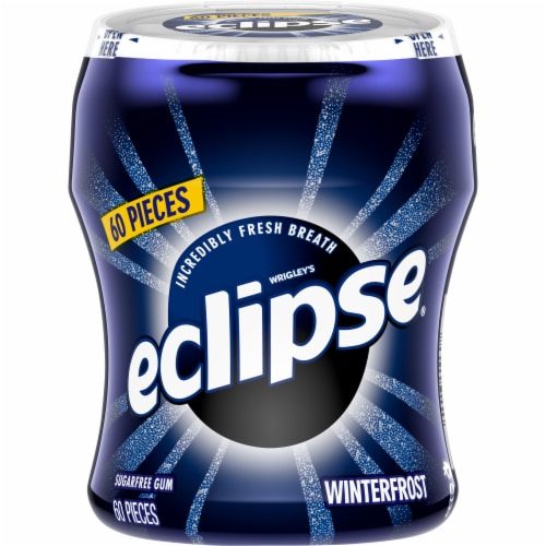 ECLIPSE Winterfrost Sugar Free Chewing Gum 60 Count Perspective: front