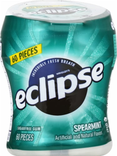 ECLIPSE Spearmint Sugar Free Chewing Gum 60 Count Perspective: front