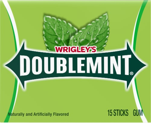 Wrigley's Doublemint Chewing Gum Perspective: front