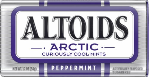 Altoids Arctic Peppermint Sugarfree Mints Perspective: front