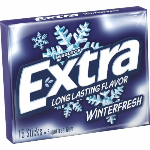 EXTRA Winterfresh Sugar Free Chewing Gum Single Pack 15 Count Perspective: front