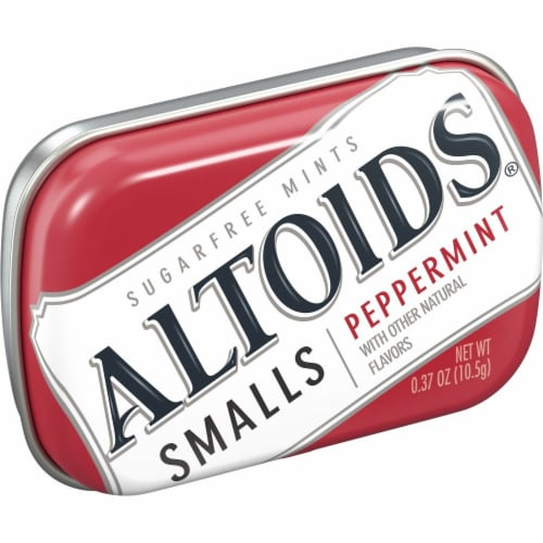 ALTOIDS Smalls Peppermint Sugar Free Breath Mints Hard Candy Perspective: front