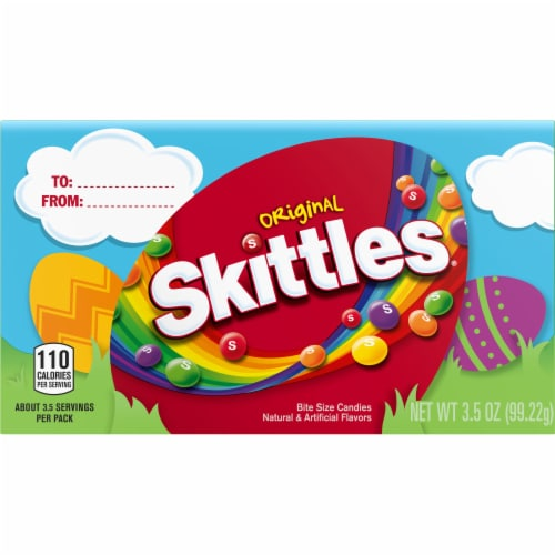 SKITTLES Original Chewy Easter Candy Theater Box Perspective: front