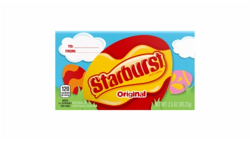 STARBURST Original Fruit Chews Easter Candy Theater Box Perspective: front