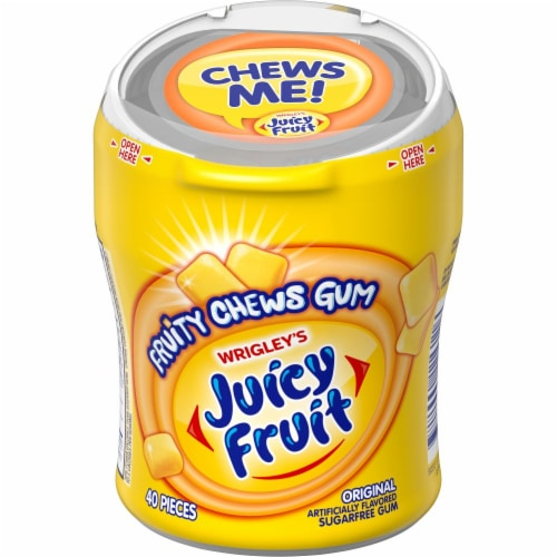 JUICY FRUIT Fruity Chews Original Sugar Free Bulk Chewing Gum 40 Count Perspective: front