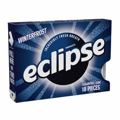 Eclipse Winterfrost Sugarfree Gum Perspective: front