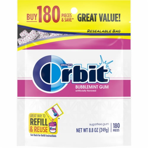ORBIT Bubblemint Sugar Free Chewing Gum Perspective: front