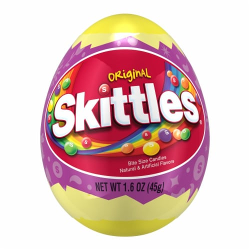 SKITTLES Original Chewy Easter Candy-Filled Easter Basket Egg Perspective: front