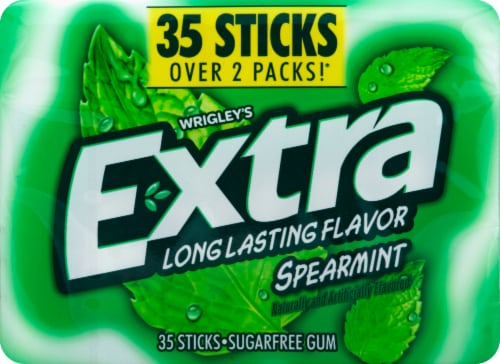 EXTRA Spearmint Sugar Free Bulk Chewing Gum 35 Count Perspective: front