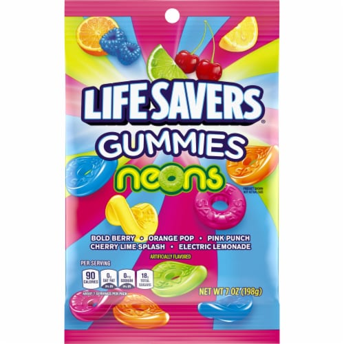 Life Savers Neons Gummies Candy Perspective: front