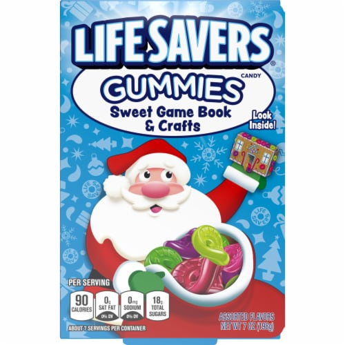 Life Savers Gummy Candy Game Book & Crafts Holiday Candy Stocking Stuffers Perspective: front