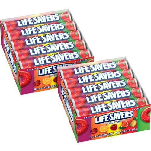 Lifesavers 5 Flavor Hard Candy Rolls Perspective: front