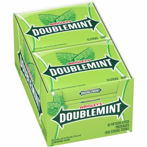 Wrigley's Doublemint Gum (10 Pack) Perspective: front