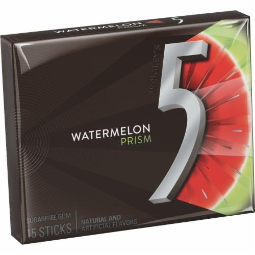 Wrigley's 5 Gum Watermelon Prism Sugarfree Gum Perspective: front
