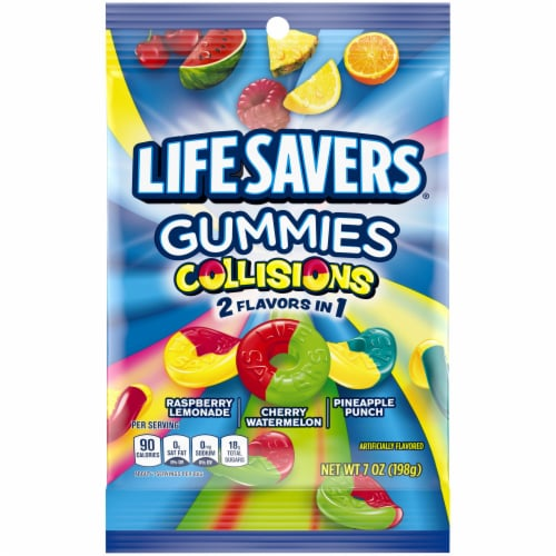 Life Savers Collisions Gummies Candy Perspective: front