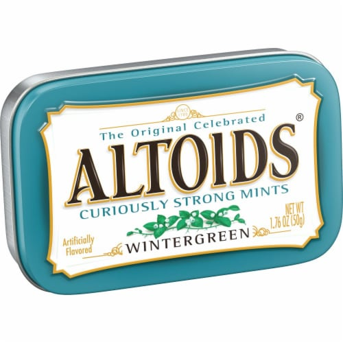 ALTOIDS Wintergreen Breath Mints Hard Candy Perspective: front
