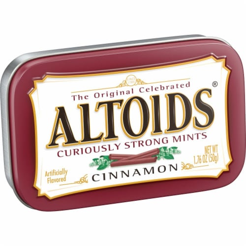ALTOIDS Cinnamon Breath Mints Hard Candy Perspective: front
