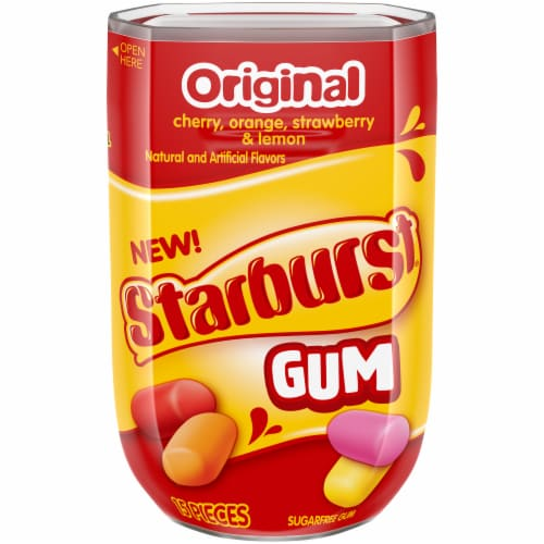 STARBURST Original Sugar Free Chewing Gum 15 Count Perspective: front