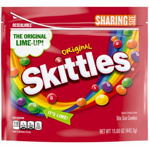 SKITTLES Original Chewy Summer Candy Sharing Size Perspective: front