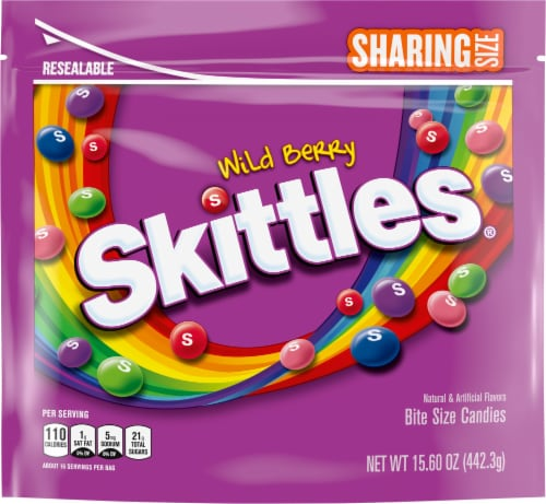 SKITTLES Wild Berry Chewy Candy Sharing Size Perspective: front