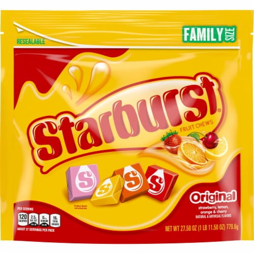Starburst Original Chewy Candy Family Size Perspective: front