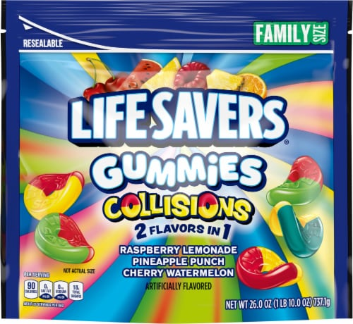 Life Savers® Collisions Gummies Family Size Pouch Perspective: front
