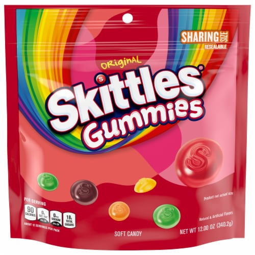 Skittles Gummies Sharing Size Perspective: front