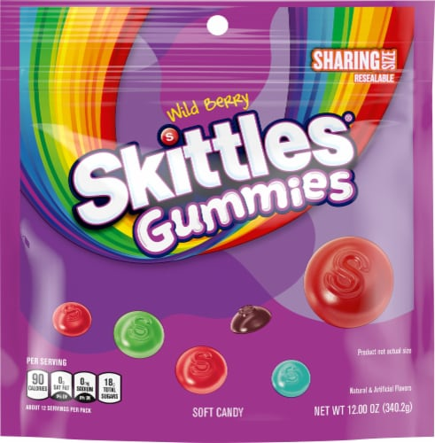 Skittles Wild Berry Gummies Sharing Size Perspective: front