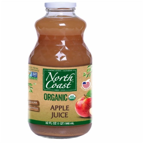 North Coast Organic Apple Juice Perspective: front