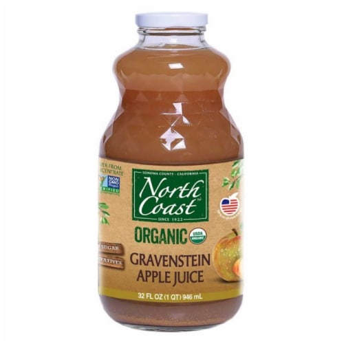 North Coast Organic Gravenstein Apple Juice Perspective: front