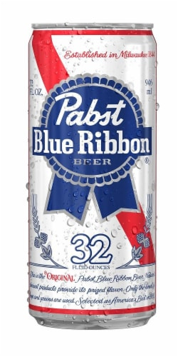 Pabst Blue Ribbon Can Perspective: front