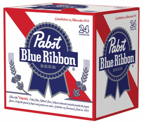 Pabst Blue Ribbon Beer Perspective: front