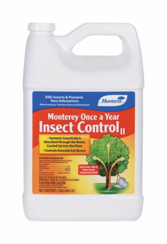 Monterey Once a Year Insect Control II Liquid Concentrate Systemic Insecticide 1 gal. - Case Perspective: front