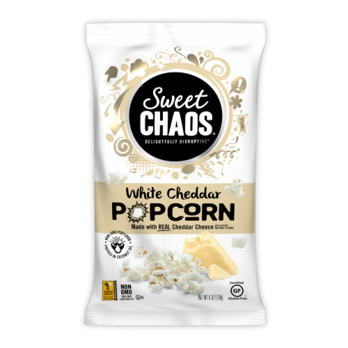 Sweet Chaos® Popcorn - White Cheddar Perspective: front