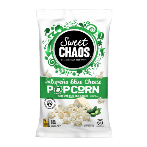 Sweet Chaos Jalapeno Blue Cheese Popcorn Perspective: front