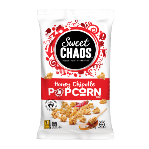 Sweet Chaos Popcorn - Honey Chipotle Perspective: front
