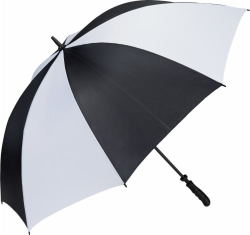 Golf Gifts & Gallery® Golf Umbrella - Black/White Perspective: front