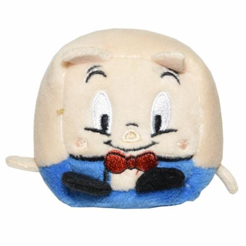 Kawaii Cubes Series 1 Small WB Character Plush - Porky Pig Perspective: front