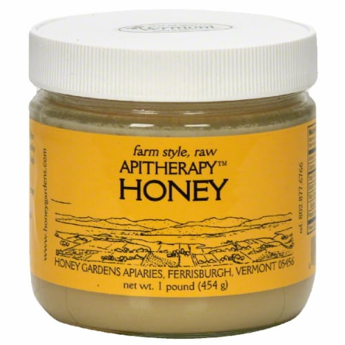 Honey Gardens Apitherapy Raw Honey Perspective: front