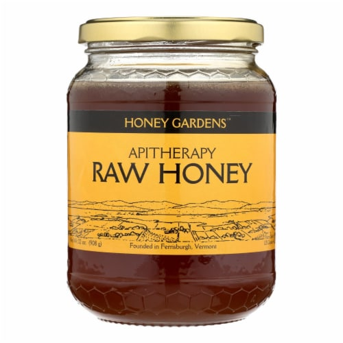 Honey Gardens Apiaries Raw Honey - 2 lbs Perspective: front