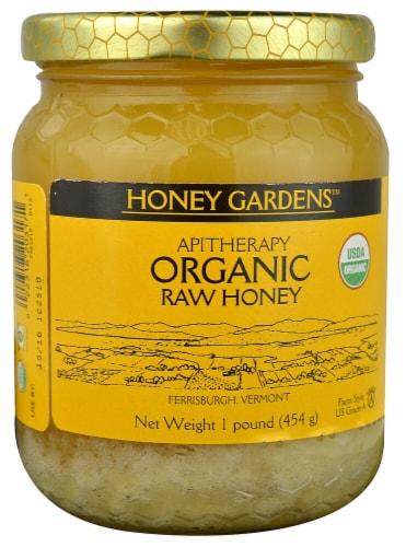 Honey Gardens Organic Raw Honey Perspective: front