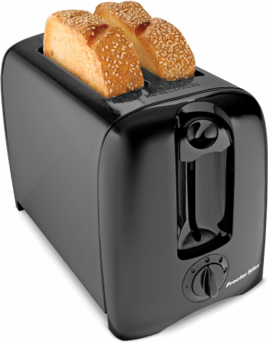 Proctor Silex® 2-Slice Durable Toaster - Black Perspective: front
