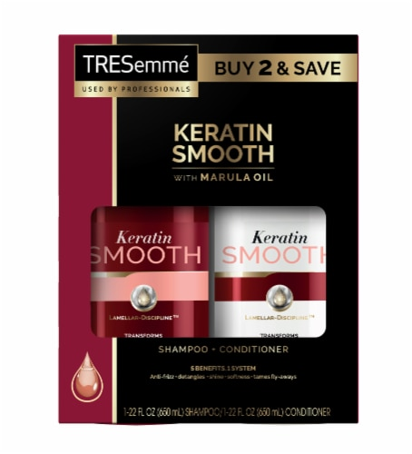 TRESemme Keratin Smooth Shampoo & Conditioner 2 Count Perspective: front